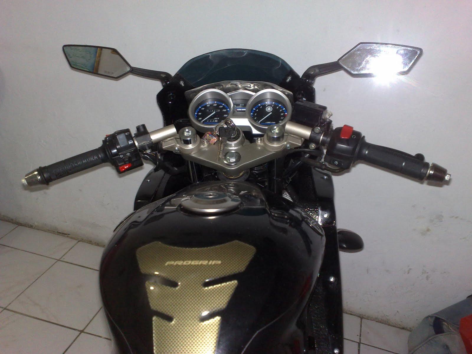 Pasang Stang Jepit Ninja KRR on Vixion